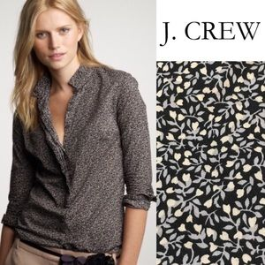 J. Crew Perfect Shirt in Floral Fan Placket